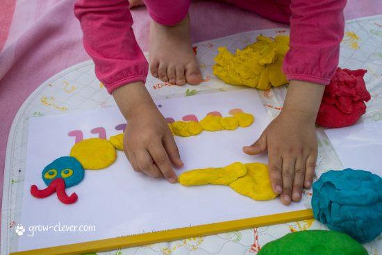 лепка с детьми, шаблоны для лепки, игры с детьми летом, творчество с детьми летом