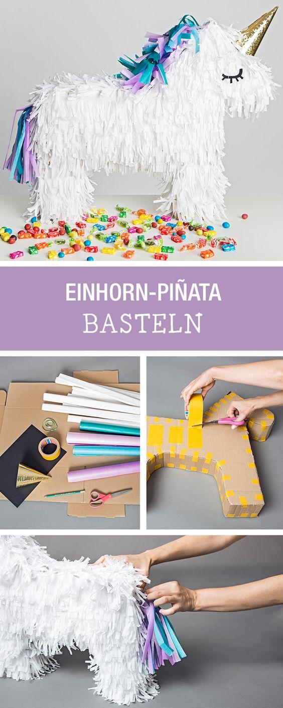 Единорог пиньята, как сделать пиньяту на детский день рождения, пиньята из картона