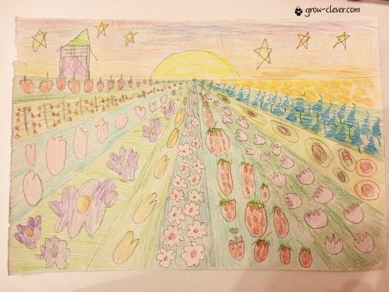 Художественное понятие, перспектива для детей, основы изобразительного искусства
