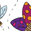 """Кукольный театр из бумаги """"Бабочка и пчёлка"""""""