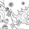 Новогодняя раскраска-плакат для детей