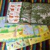 Стикербуки Вокруг света и Животные, Книга с наклейками про страны и животных, книги для занятий с детьми